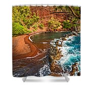 The Exotic And Stunning Red Sand Beach On Maui Shower Curtain