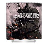 The Expendables 2 Schwarzenegger Shower Curtain