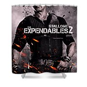 The Expendables 2 Stallone Shower Curtain