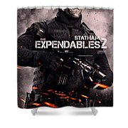 The Expendables 2 Statham Shower Curtain