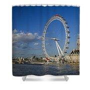 The Eye In London Shower Curtain