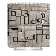 The Eye Of Big Brother Shower Curtain