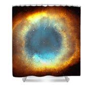 The Eye Of God-helix Nebula Close Up Shower Curtain