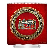 The Eye Of Horus Shower Curtain by Serge Averbukh