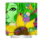 The Eye Of Mother Nature Shower Curtain