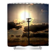 The Eye Of The Evening Sun Shower Curtain