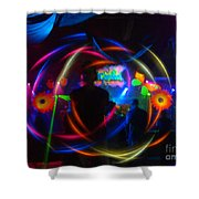 The Eye Of The Rave Shower Curtain