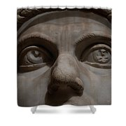 The Eyes Of Constantine Shower Curtain