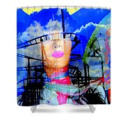 The Eyes Of Miss Coney Island Shower Curtain