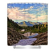 The Eyes Of The Mountain. Shower Curtain