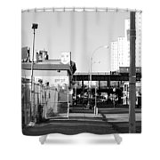 The Face In Black And White Shower Curtain