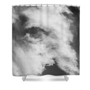 The Face In The Clouds Shower Curtain