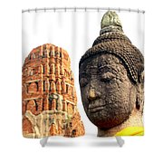 The Face Of A Buddha Shower Curtain