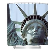 The Face Of Liberty  Shower Curtain