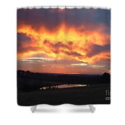 The Sunrise Face In The Clouds Shower Curtain