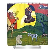 The Faces Of Africa Shower Curtain