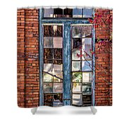 The Factory Window Shower Curtain