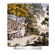 The Fair Penitent, From Ackermanns Shower Curtain by English School