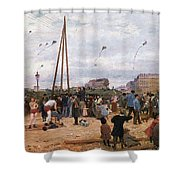 The Fairgrounds At Porte De Clignancourt Paris Shower Curtain