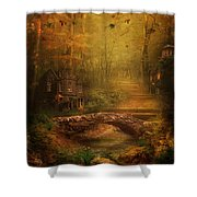 The Fairy Forest In The Fall Shower Curtain