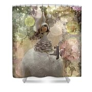 The Fairy Of Winter Lights Shower Curtain