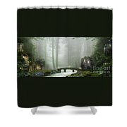 The Fairy Village Shower Curtain