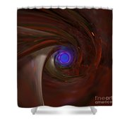 The Falcon's Eye   Ultra Violet Vision Shower Curtain