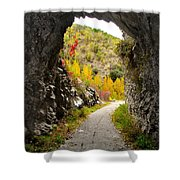 The Fall Cave Shower Curtain