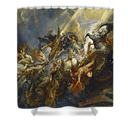 The Fall Of Phaeton Shower Curtain by  Peter Paul Rubens