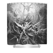 The Fall Of The Rebel Angels Shower Curtain
