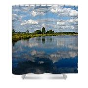 The Fallen Sky Shower Curtain