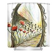 1st World War- Fallen  Shower Curtain