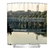 The Falls Bridge Over The Schuylkill River Shower Curtain