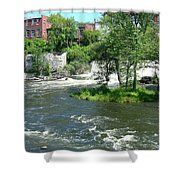 The Falls In Middlebury Shower Curtain