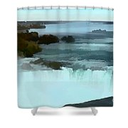 The Falls-oil Effect Image Shower Curtain