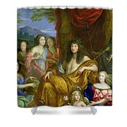 The Family Of Louis Xiv 1638-1715 1670 Oil On Canvas Detail Of 60094 Shower Curtain