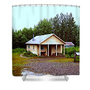 The Famous Cabin Of Fannie Quigley Shower Curtain