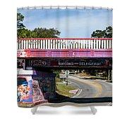 The Famous Graffiti Bridge Shower Curtain