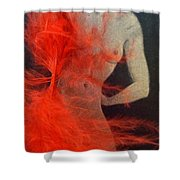 The Fan Dancer  Shower Curtain