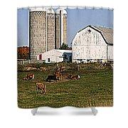 The Farm In Autumn Shower Curtain