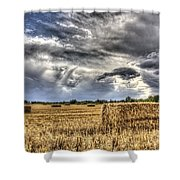 The Farm In The Summer Shower Curtain