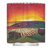 'the Farm' Shower Curtain
