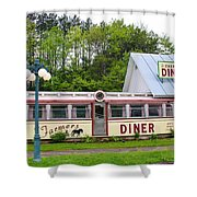 The Farmers Diner In Color Shower Curtain