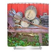 The Farmer's Old Wheelbarrow Shower Curtain