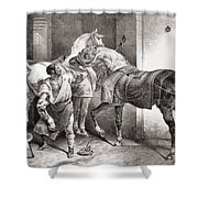 The Farrier, From Etudes De Cheveaux Shower Curtain