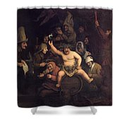 The Feast Of Bacchus, 1654 Shower Curtain
