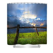 The Fence At Cades Cove Shower Curtain
