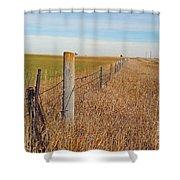 The Fence Row Shower Curtain
