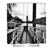 The Ferry Terminal York Shower Curtain