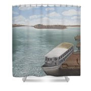The Ferryman's Break Shower Curtain
